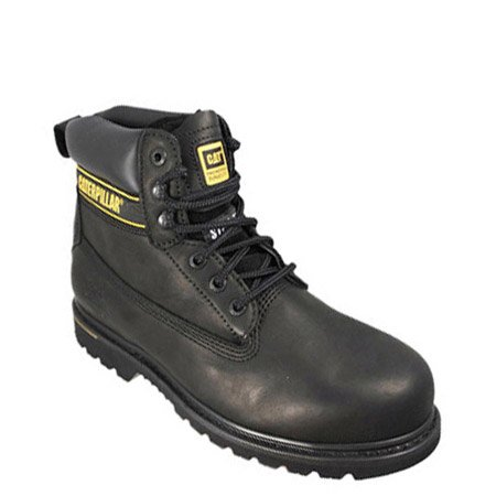 Caterpillar Holton - Botas de seguridad de nobuk, color negro, talla 9 UK