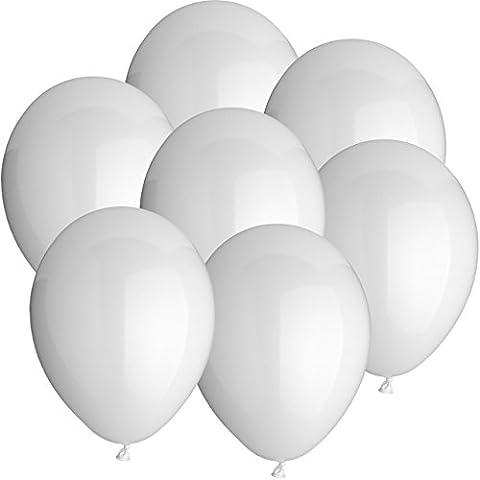 100x Rundballons WEISS Ø25cm + Geschenkkartenset + PORTOFREI mgl. + Helium & Ballongas geeignet. High Quality Premium Ballons vom Luftballonprofi & deutschen Heliumballon Experten. Tolle Luftballondeko und Geschenkidee mit Ballons.