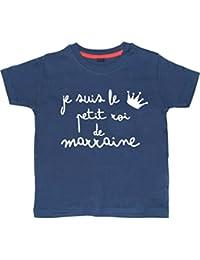 JE SUIS LE PETIT ROI DE MARRAINE ' tee shirt marine