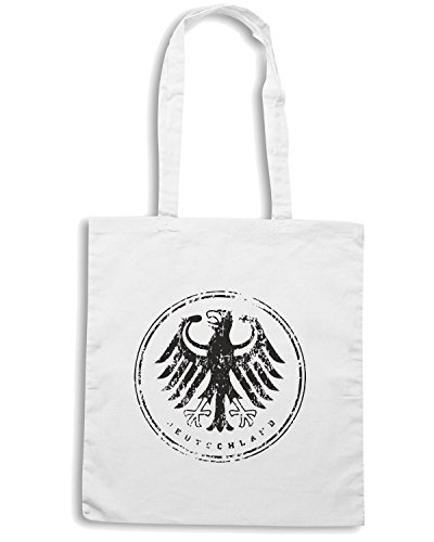 T-Shirtshock - Borsa Shopping WC0369 GERMANY T-SHIRT - DEUTSCHLAND ICON Bianco