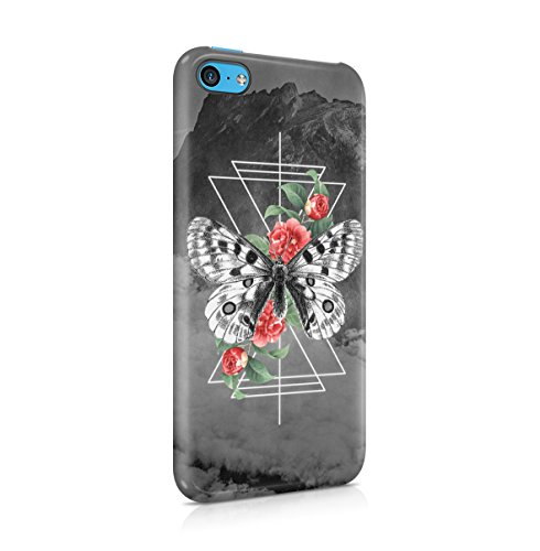 Flowers Crimson Red Rose Blossom Pattern Apple iPhone 4 , iPhone 4S Snap-On Hard Plastic Protective Shell Case Cover Custodia Butterfly Rose