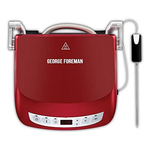 George Foreman 24001-56 Fitnessgrill Präzisions, intelligenter Kerntemperatursensor, 5 verschiedene Modi, Kontaktgrill, Panini- und Sandwichgrill, 29 x 19 cm Grillfläche,...
