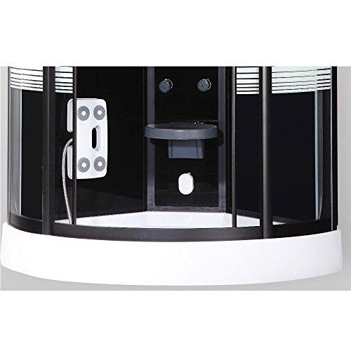 Home Deluxe Black Pearl 90x90 cm Duschtempel, inkl. Dampfsauna und komplettem Zubehör - 4