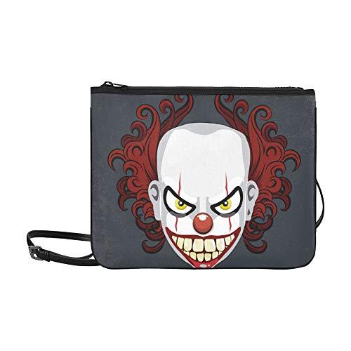 lown Monster Pattern Benutzerdefinierte hochwertige Nylon Slim Clutch Cross Body Bag Schultertasche ()