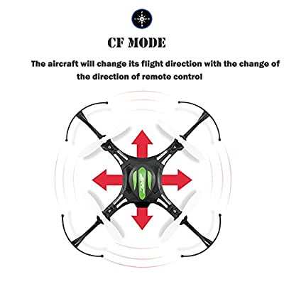 3D Roll RC Quadcopter, Koiiko JJRC H8 Mini 4 Channels Drone Headless RTF Ready-To-Fly R/C Aircraft 6-Axis Gyro Helicopter with 2.4G Wireless Remote Contro and LED Lighting for Night Flying Black