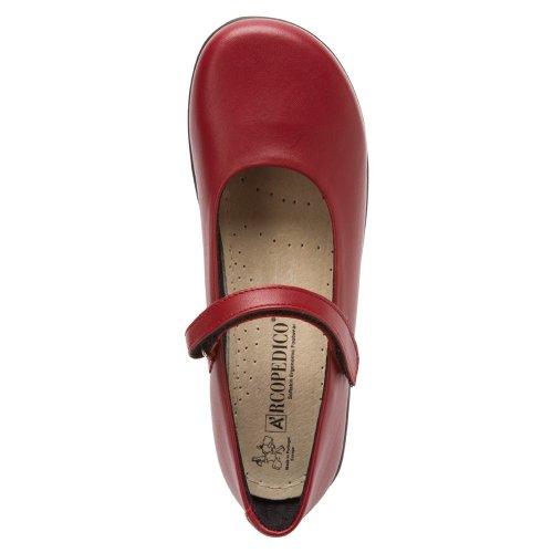 Arcopedico Womens 7151 Scala Leather Shoes Rouge - rouge