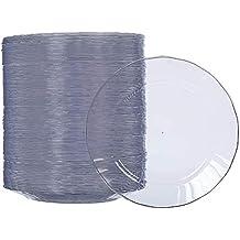 AmazonBasics beschikbare plastic borden voor eenmalig gebruik - 100 stuks per verpakking, 19 cm