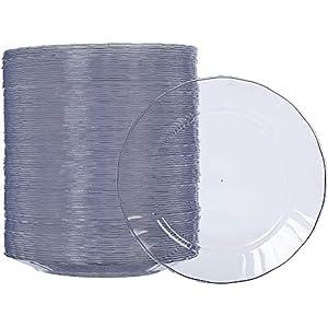 AmazonBasics – Teller aus Kunststoff, Einwegteller, 100-er Pack, 19 cm