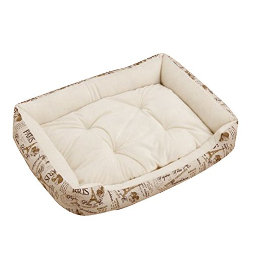 Extra Größe Luxus Hundebett Hundekissen Oxford Gewebe mit unten einen Anti-Rutschboden Beige 1