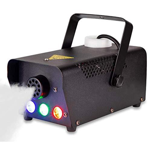 MUTANG Nebelmaschine, 7 Farbe LED-Leuchten, Compact tragbare Nebelmaschine mit Wired und Wireless-Fernbedienung, bester Mist Maschine for Halloween-Party-Festival Hochzeit Bühneneffekt, schnelles Aufh