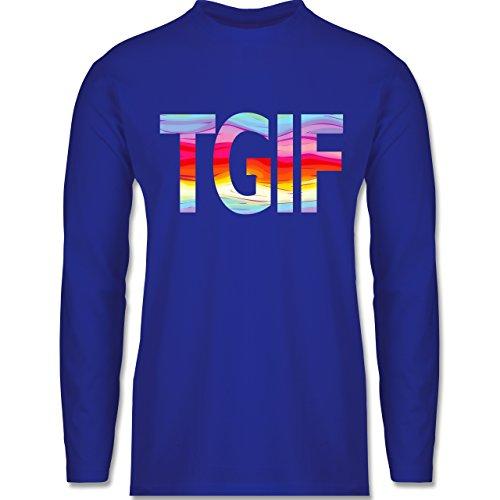 Shirtracer Statement Shirts - Thank God It's Friday - Herren Langarmshirt Royalblau