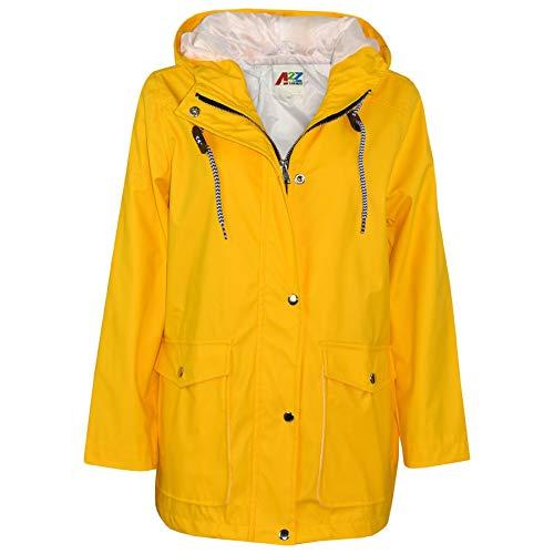 A2Z 4 Kids® Kinder Mädchen Jungen PU Regen Mantel Jacken Windbreaker - PU Raincoat 497 Yellow 13