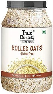 True Elements Gluten Free Rolled Oats 1.2 kg - Fibre & Protein Rich Breakfast, Super Saver