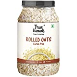 True Elements Gluten Free Rolled Oats 1.2 kg - Fibre & Protein Rich Breakfast, Super Saver Pack