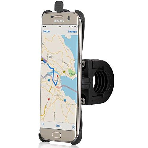 Wicked Chili Fahrrad/Roller/Lenker-Halterung mit Sicherung für Samsung Galaxy S7 Edge (G935F) (passgenau, QuickFix, Made in Germany), S7 Edge Bike Halterung
