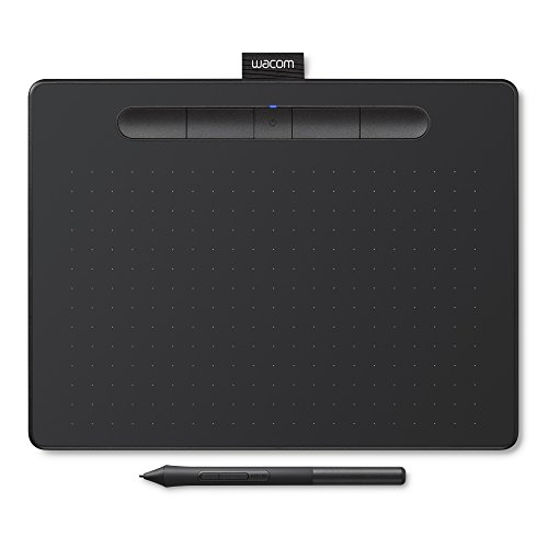 Wacom Intuos Stift-Tablett (Größe: M, mit Bluetooth, Medium Grafik, inkl. 3 Kreativ-Software zum Download und präzisem 4k Stift, Kompatibel mit Windows und Mac) schwarz