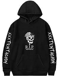 EMILYLE Xxxtentacion Rip Esqueleto Corazón Alas Rip Rapper Hip Hop Sudadera con Capucha Manga Larga Moda