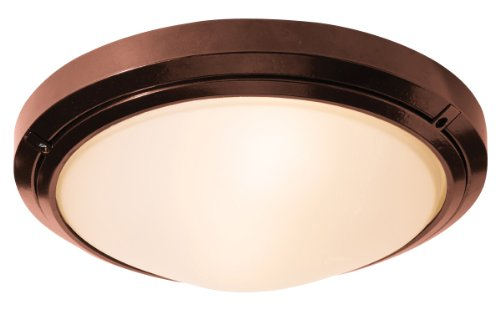 Access Lighting 20356MG-BRZ/FST Oceanus 15.75-inch Wet Location Ceiling/Wall Fixture, Bronze Finish with Frosted Glass by Access Lighting (Brz-finish)