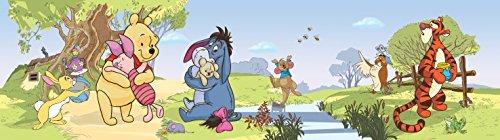 1art1 106566 Winnie Puuh Der Bär - Winnie Pooh with Friends Selbstklebende Fototapete Poster-Tapete Bordüre 500 x 10 cm (Winnie The Pooh Sammler)