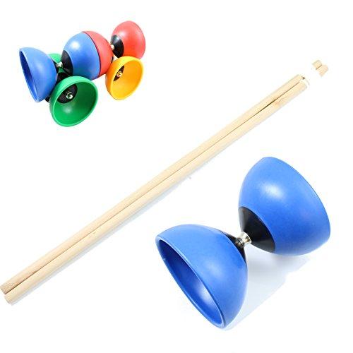 Diabolo in verschiedenen Farben Holzgriffe Stäbe aus Holz - Spielzeug keine Farbauswahl möglich