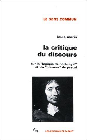 La Critique du discours par Louis Marin