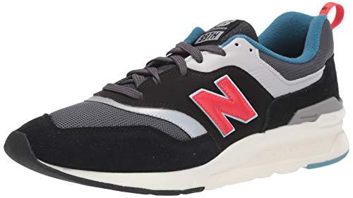 New Balance Herren 997H Sneaker, Schwarz (Magnet/Energy Red), 44.5 EU
