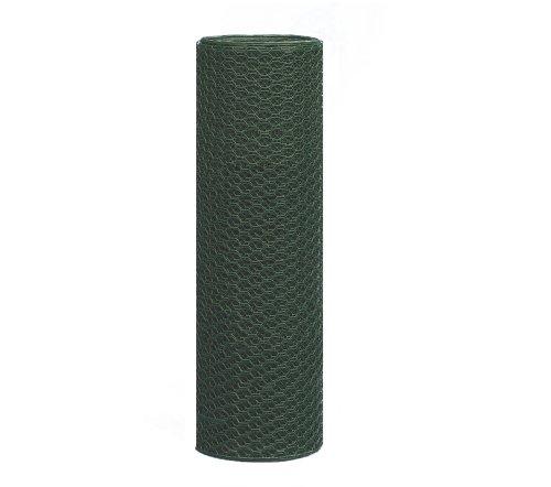 Sechseckgeflecht Hexanet, grün, 500 mm Höhe, 25 m Rolle, 25 mm Maschenweite