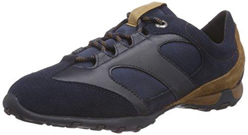 Geox D FRECCIA A, Sneakers basses femme Bleu - Blau (C4002NAVY)