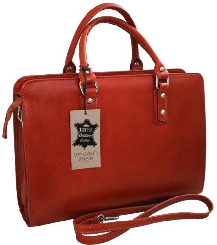 Portefeuille des femmes de sac à main de marque communautaire par le travail, 36x27x11cm, 100% cuir Made in Italy