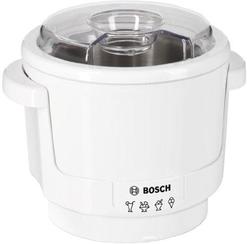 Bosch MUZ5EB2 Eisbereiter (400 W, passend für Bosch Küchenmaschinen MUM5, doppelwandig, max. 550 ml Eis, Rührwerkzeug) weiß