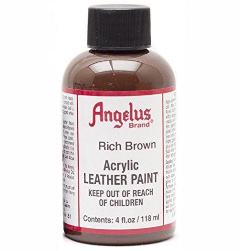Angelus Acryl Leder Farbe 118ml / 4oz (Reiches Braun / Rich Brown) (Acryl-leder-farbe Brown)
