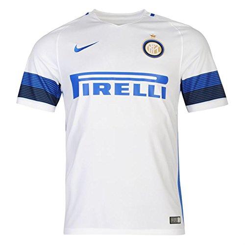 Nike Inter de Milán YTH SS AW Stadium JSY Camiseta de Manga Corta, Hombre, Blanco (White/Royal Blue), XL
