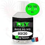 Base neutre - 1 L - PG/VG - 80/20 - DIY E LIQUIDE - Vapfusion - Sans nicotine ni tabac