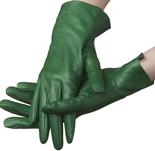 Lundorf Women's Flora Unlined Gloves Danish Design 8 Green