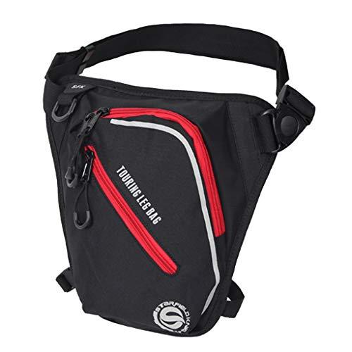 Preisvergleich Produktbild Homyl Motorrad Drop Bein Gürteltasche Sport Hüfttasche,  Motorrad Gürteltasche Beinbeutel Mode Beintasche Bein-Geldgürtel