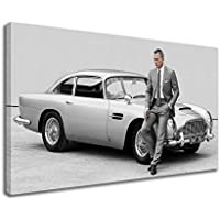 Aston Martin DB5Skyfall Daniel Craig James Bond Tela, Grey, 30X18