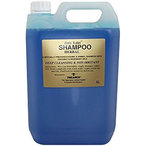 Gold Label Stock Shampoo Herbal Cavalli Cavallo Shampoo e balsami, 5 LT