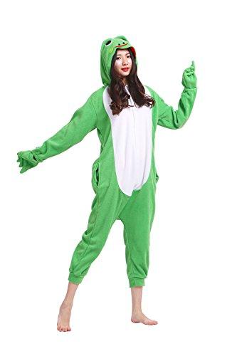Hstyle Unisex-Erwachsene Onesies Pyjamas Halloween Cosplay Kostüme, Overalls Weihnachtsgeschenke Grünen Frosch Groß
