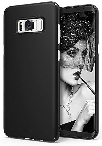 Coque Samsung Galaxy S8 Plus, Ringke Slim Ajustement facile, Mince [Découpes sur mesure] Extrêmement légère et mince Revêtement supérieure PC- Étui rigide - SF Black