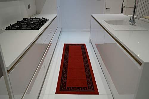 Serdim Rugs Ltd Alfombrillas Antideslizantes para Corredor de Cocina, Lavables a máquina, diseño Triangular...