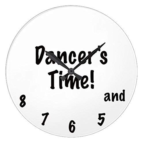 Simpson Rebecca Antique Wood Clock for Bedroom Dancers Time Nursery Wood Wall Clock for Bedroom Decor 12 Inch (Uhr Tänzer)