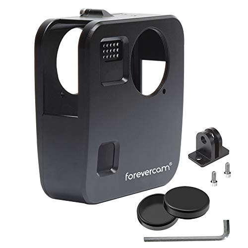 Forevercam Housing Case Aluminium Alloy Protective Wrap Cover Compatible for Gopro Fusion Action Camera Accessories