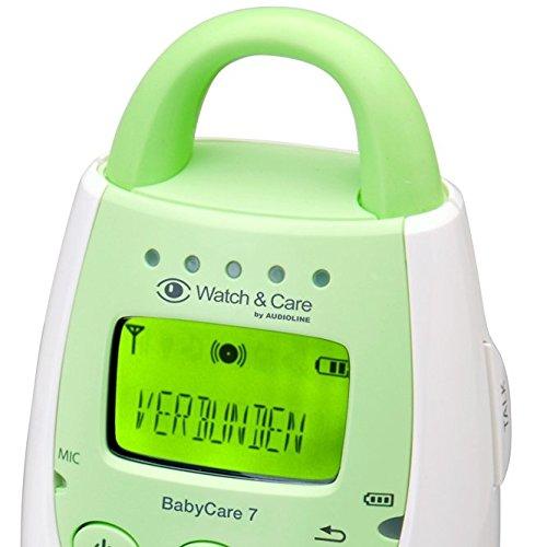 Audioline Baby Care 7 Babyphone mit digitaler, rauschfreier Funkübertragung -