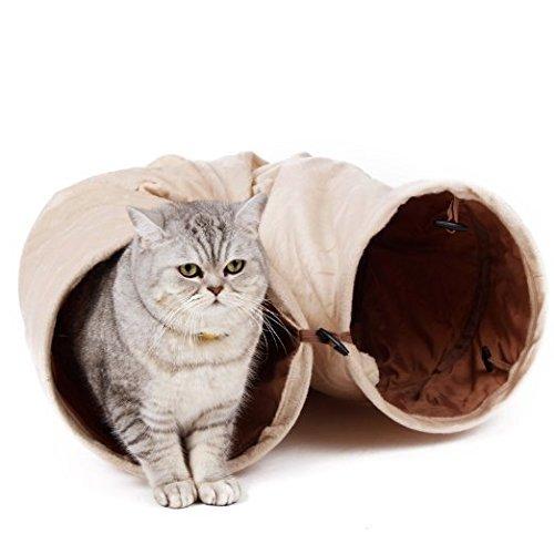 Von Arten Mit Wilden Katzen (Pawz Road sämisch Katzentunnel Katzenspielzeug Rascheltunnel Spieltunnel 120cm mit 2 Höhlen)