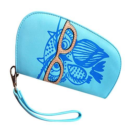 Vikenner Mini Eule Geldbeutel kleine Handtasche Münze mit Filet Reißverschluss für Damen und Mädchen Mini-filets