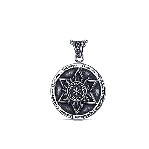 Z-P Men's Fashion Cool Stainless Steel Titanium Star Pendant Necklace