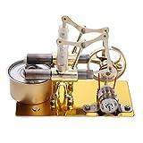 F Fityle Zwei Zylinder Stirling Motor Wärmekraftmaschine Dampfmaschinen Wissenschaftliches Spielzeug