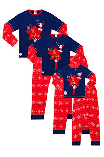 Official The Elf on The Shelf Family Long Pyjamas Christmas Matching Pjs (Ladies, 22-24)