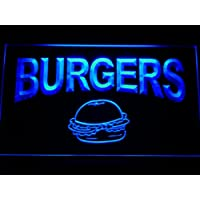 ADV PRO m082-b Burgers Cafe Neon Light Sign