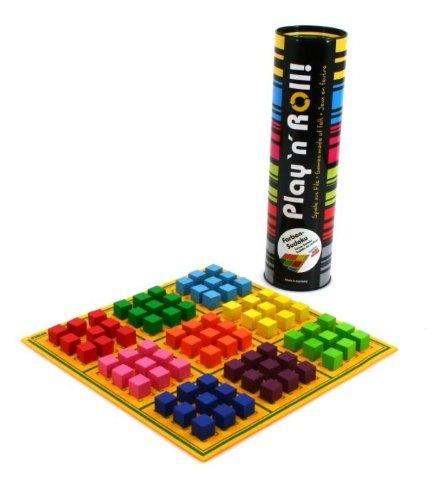 weiblespiele 06239Colores Sudoku 'Play' n 'Roll' Fieltro con Juego Piedras de Madera